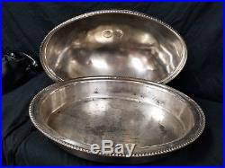 RARE Vintage Hotel Utah Meat Dome Entree Serving Tray, Silver Plate