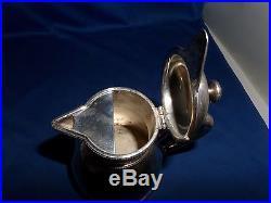 Rare White Star Line Jug C. 1900 Collis & Co Vintage Silver Plate Original Cond