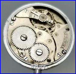 RARE WWII SEIKOSHA SEIKO JAPANESE MILITARY WRIST WATCH to RESTORE 24hr dial