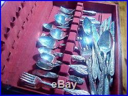 RC01 Silver plate vintage flatware set