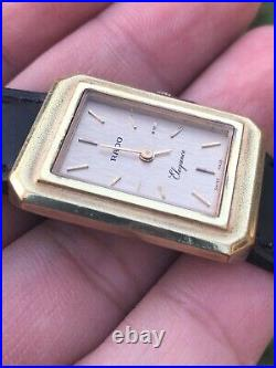 Rado Elegance Manual Wind 23mm X 30mm Gold Plated Vintage Watch