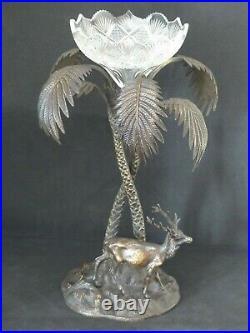 Rare Antique Stag / Tree Silver Plate Table Centre Piece Elkington