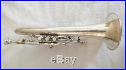 Rare Vintage 1929 Buescher Flugelhorn Excellent Condition, Original Silver Plate