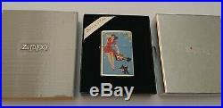 Rare Vintage Gil Elvgren TORNADO Pin Up Girl Silver Plate Stamped Zippo Lighter