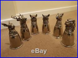 Rare Vintage Gucci Silver Plate Stirrup Hunting Cups Full Set Of 6