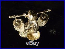 Rare Vintage Silver Plated Arab Figural Dining Table Salt & Pepper