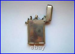 Rare Vintage THORENS Semi-Automatic Silver Plated Petrol Cigarette Lighter Swiss