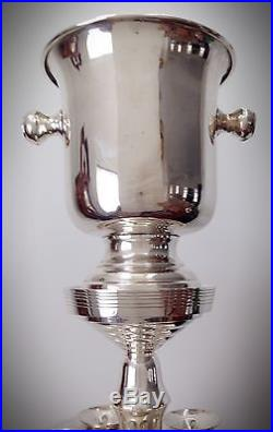 Rare Vintage Wallace Silversmiths Ice Bucket withStand & 6 Stemmed Goblets