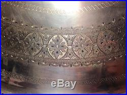 Rare Vintage Wilson Davis Sheffield 1871 Large 28 1/2 Silver Plate Serving Tray