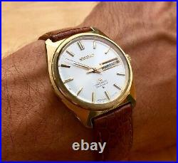 SEIKO LORD MATIC 5606-7000 WEEKDATER Vintage 1970s Gold Plated In the USA