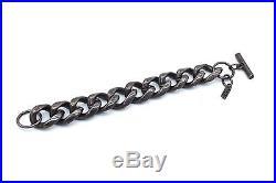 SIGNED Vtg RUNWAY Modernist YSL YVES SAINT LAURENT Silverplate Bracelet HEAVY