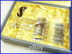 SOLINGEN Silver Plate Cutlery Vintage Ornate Pattern 61 Piece Canteen for 12
