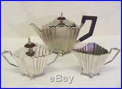 SUPER VINTAGE ART DECO SILVER PLATED TEA SET TEA SERVICE WINDSOR COLLECTION