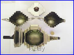SUPER VINTAGE ART DECO SILVER PLATED TEA SET TEA SERVICE WINDSOR COLLECTION & Vintage Silver Plate | SUPER VINTAGE ART DECO SILVER PLATED TEA SET ...