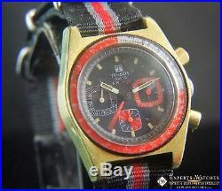 Serviced Vintage TISSOT PR 516 Chronograph Lemania 873 Gold Plated post 861 CH27