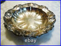 Set of 4 Vintage Towle Silver Plate Old Master Serving Bowls and Tray