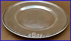 Set of 6 Vintage Sterling Silver Plates by Meriden Britannia Company