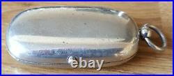 Silver plate vintage Victorian antique sovereign holder & vesta case