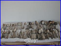 Silverplate Flatware Lot Ornate Antique Vintage for Crafts 150+ pieces NO MONOS