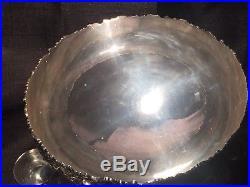 Silverplate Punchbowl Set VINTAGE Grape Pattern Webster Wilcox / International