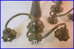 Sunning Vtg Silver Pair Candelabra Candlestick Holders Rococo Twist Petal