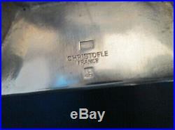 TEA SET withTRAY! Vintage CHRISTOFLE FRANCE silverplate ART DECO pattern LOVELY