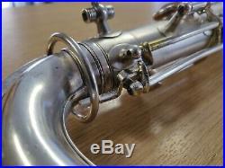 TO EDIT JW York Vintage Tenor Saxophone Satin Silver Plate (1930s Model)