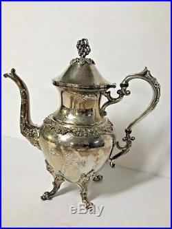 Tea Set BIRMINGHAM Silver Co Coffee Service Silver on Copper VINTAGE Antique