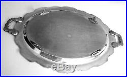 Towle Grand Duchess Silver Plate Footed Huge Waiter Tray 30X20 Vintage Elegant