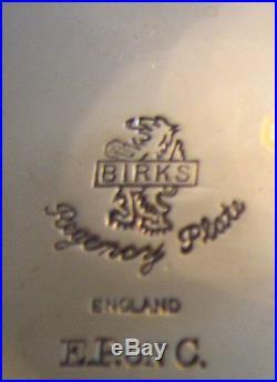 Vintage Birks Regency Silverplate On Copper Melon Tea Coffee Set Service