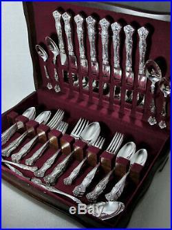 VINTAGE GRAPE 1847 ROGERS ART NOUVEAU 1904 DINNER SET SERVING PCs CHEST