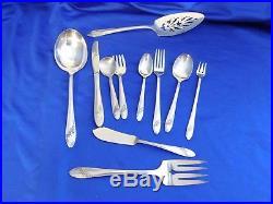 VINTAGE QUEEN BESS ONEIDA Community Tudor Plate Flatware 74 Pc Silverware