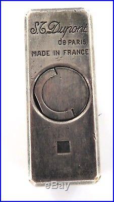 VINTAGE S. T. DUPONT De PARIS SILVER PLATE LINGE 1 CIGARETTE LIGHTER. N5AV30