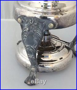 VINTAGE SILVER PLATE PLATED COFFEE TEA URN With WARMER, 16 CUPS, 20.5 INCHES TALL