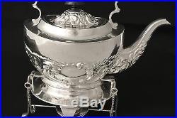 Vintage Silver Plate Repousse Embossed English Tilting Tea Pot Tipping Tea Pot