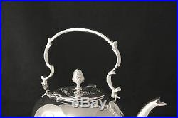 Vintage Silver Plate Tippin Tea Pot Tilting Tea Pot Half Fluted Design
