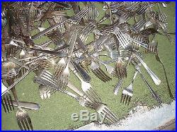 VINTAGE Silver Plate Flatware Forks Craft Lot 427 Pieces