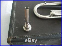 VINTAGE Silver Plate SUPER OLDS TRUMPET + Case + 7c Conn Mouthpiece