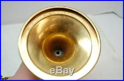 VINTAGe 9 1/2 Sterling Silver cup CIBORIUM -GOLD PLATED #416 (CHURCH CHALICE)