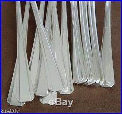 VTG 50 Pcs Roberts & Belk Romney Plate Silverplate PLAIN PINE 798068 Flatware