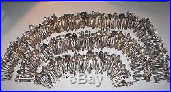 VTG 550 pcs LOT Scrap Crafts Jewelry Silverplate Silver Flatware Silverware