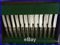 VTG Dubarry Pattern Sheffield England Silverplate Flatware 101 Pcs EPNS A1 Case