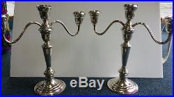 VTG Gorham Heritage EP Silverplate Candelabras Pair Candlesticks 11-1/2 Tall
