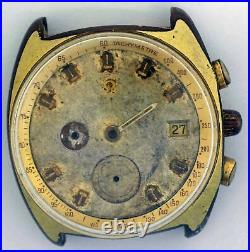 VTG OMEGA Seamaster Gold Plated Chronograph. Ref 176.007, Cal 1040. For Repair