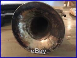VTG Silverplate JW York and Sons Grand Rapids Mich Trombone #9334