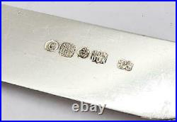 Victorian SAVORY & CO LONDON SILVER PLATE & MOTHER OF PEARL CASED CUTLERY c1877