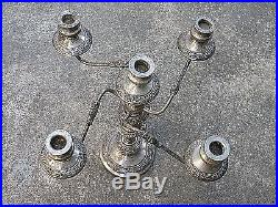 Vintage 18 Silverplate 5 Stick Candelabra Hallmark Crown Gse Goldfelder Silver