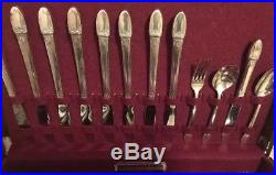 Vintage 1847 Rogers Bros First Love Silverware Set With Chest #54 Pieces Total