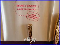 Vintage 1847 Rogers Bros Gold Plated Stainless Steel Flatware 50 piece set for 8