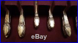Vintage 1847 Rogers Bros Silver Plate Flatware First Love Set W. Box 52 pieces